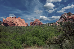 Garden of the Gods 1 (Largeguy1) Tags: approved garden gods landscape blue sky clouds red rock canon 5dsr