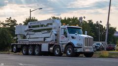 Twin steer Peterbilt 567 (NoVa Truck & Transport Photos) Tags: twin steer peterbilt 567 bridge inspection truck mcclain co aspen aerial a75