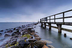 No Sunrise (Johan Konz) Tags: water rock stone waterscape seascape jetty pier edam waterland netherlands outdoor le longexposure nikon d7500 sea blue cloud sky depth coast shore bay fishingpole