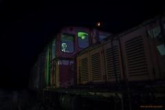 Incoming train (MIKAEL82KARLSSON) Tags: gasmask mask radioactive radioaktivitet suit werd zone biohazard nattfoto night natt nightshot nightphoto train explore explorer expo pentax k70 1650mm f28 sverige sweden mikael82karlsson light