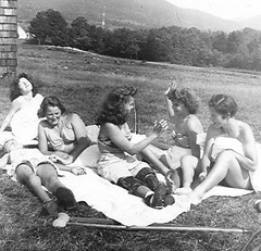 Polio Sunbathing - 1930s (jackcast2015) Tags: handicapped disabledwoman crippledwoman paralysed poliogirl legbraces calipers polio crutches
