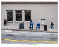Pedestrians, Slanted Street (G Dan Mitchell) Tags: slant slope hill sanfrancisco sidewalk pedestrians walk street urban california usa north america people mailbox