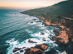 (David Youngblood) Tags: bay foggysunrise foggymorning foggy fog scenicview scenicdrive mountain hillside birdseyeview pacificcoasthighway highway1 highwayone water waves rocks ocean pacificcoast sunrise aerial drone mavicpro dji