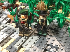 War fighters (Yappen All Day Long) Tags: lego war fighters soldiers green berets brickarms custom brickforge eclipsegrafx m4 m9 pistol rifle brickarm