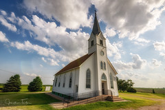 Lutheran Church - Nebraska (Jonathan Tasler) Tags: church nebraska clouds colorful grass