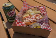 Lobster Roll - Best In Souris (SNAPShots by Patrick J. Whitfield) Tags: lines patterns texture details light colours foodporn food foodphotography lobstershack princeedwardisland lobster catch freshcatch canadadry gingerale outside beach shores souris exploring