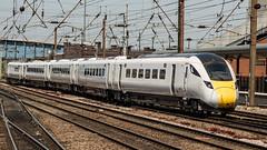 800202 (JOHN BRACE) Tags: 2018 hitachi newton aycliffe built class 8002 bi mode inter city express unit 800202 seen doncaster white base livery test