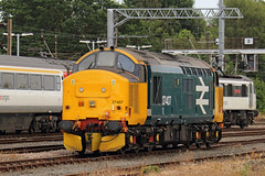 Large Logo (Treflyn) Tags: drs class 374 37 growler tractor 37407 br large logo livery norwich station