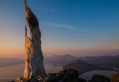 Sunrise wizards (Dimitri_Stucolov) Tags: craterlake sunrise morning crater lake np craterlakenp nationalpark nature outdoors wizardisland deadtree oregon pacificnorthwest mtmazama