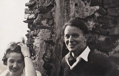 Diana and Roy Rhine Germany 1953 (Bury Gardener) Tags: bw blackandwhite snaps scans germany rhine 1950s 1953 europe people folks vintage oldies old