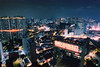 The Future We Live In Pt 2 (OzGFK) Tags: asia singapore tanjongpagar chinatown downtown hdb pinnacleatduxton futurecity bladerunner futuristic sofitel skyscraper skyline neon nightlight cinestill cinestill800t cinestillfilm 35mm analog nikon nikkor