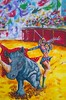 EL MATADOR (tomas491) Tags: rhino matador rhinofighter public flags sword fantasy fantasypainting arena acrylic girl sunny power fun danger femalematador humor beauty
