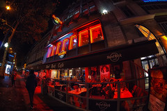 Rhapsody in Red (Gary Burke.) Tags: hardrockcafe restaurant dining hardrock neon red iledefrance architecture touristattraction travel wanderlust tourism paris france vacation citylife cityliving urban city traveling europe european klingon65 garyburke urbanphotography travelphotography citystyle french sony a6300 mirrorless sonya6300 cityoflights outdoor building parisian îledelacité citystreets sidewalk americanrestaurant themerestaurant sidewalkdining outdoordining 9tharrondissement fisheye wideangle uwa fisheyelens