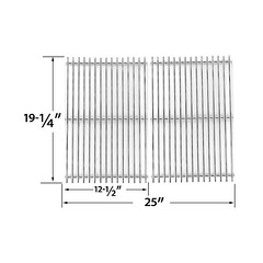 2-PACK-HEAVY-DUTY-REPLACEMENT-STAINLESS-STEEL-COOKING-GRATES-FOR-BBQ-GRILLWARE-BRINKMANN-CHARMGLOW (grillpartszone) Tags: stainless steel cooking grates bbq grillware