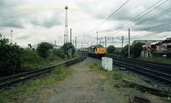 Mossend 37373 22jun89 c419 (Ernies Railway Archive) Tags: mossendyard cr lms scotrail