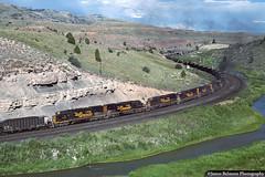 The Magnificent Seven (jamesbelmont) Tags: riogrande drgw swinghelper helper emd sd40t2 coal kyune pricecanyon soldiersummit tunnelmotor
