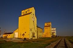 Dwane at Mossleigh (John Andersen (JPAndersen images)) Tags: abandoned alberta elevators fullmoon mossliegh night railroad stars