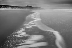 Embleton Swash (Julian Barker) Tags: embleton bay dunes beach strand line monochrome black white leadin northumberland england north east great britain uk europe sea ocean darkening opportunity maritime julian barker canon dslr 5d mkii