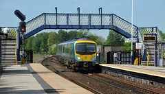 185105 enters Mexborough with the 1B74 Manchester Airport to Cleethorpes, 15th May 2018. (Dave Wragg) Tags: 185105 class185 desiro 1b74 tpe firsttranspennineexpress dmu railcar mexborough railway