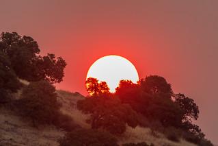 smoky sunrise at Brushy Peak