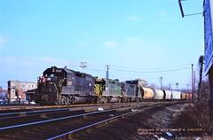 CR 3107-3277-3201, IHB-7, Suffern, NY. 4-01-1978 (jackdk) Tags: train railroad railway locomotive emd emdgp40 emdgp402 gp40 gp402 cr conrail penncentral pc rdg reading readingline suffern suffernnewyork ihb7 standardcab fallenflag