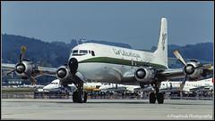 G-SIXC / ZRH 07.1992 (propfreak) Tags: propfreak slidescan zrh lszh zurich kloten gsixc dc6b airatlantique dc6 b1006 civilairtransport xwpfz royalairlao n93459 southernairtransport rosenbalmaviation fbbdg airfrance atlanticairlines atlanticcargo transcontinental