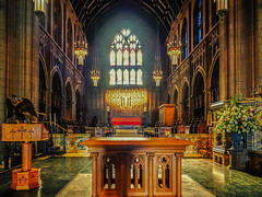 taking_sanctuary (gerhil) Tags: architecture building church cathedral interior light color sanctuary episcopal historic landmark cleveland cle window altar