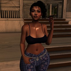 Bhangra Sunset (PhattyPumPumSnacks) Tags: mumbai india blackgirlmagic bento secondlife firestorm genusproject