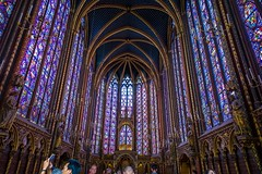 Some incredible stained glass in a church in Paris.