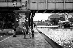 Paris, canal de l'Ourcq, b&w, 8 (Patrick.Raymond (4M views)) Tags: 75019 canal ourcq paris noir et blanc street photo nikon