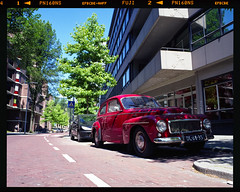 Oldtimer on film. (Peter Bruijn) Tags: oldschool oldtimer old timer volvo red pro160ns fuji160 fuji160ns fujifilm 160ns fujipro160 fujipro160ns pentax pentax67 pentax6x7 pentaxanalog mediumformat medium mediumformatfilm 120film 120photo 120 120photography 120analog rollfilm rolfilm 55mm analog analogue analogphotography analogfilm analogphoto analoog fujianalog film filmisnotdead filmphotography filmphoto
