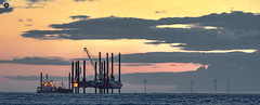 Props for the colour show. (alundisleyimages@gmail.com) Tags: sunset shipping industry windfarm merseyside weather ships working clouds maritime tides panorama ports harbours northwestengland nikon sigma d750 photography lowlight machinery