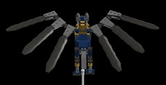 wing-wolf mech 7sr(2) (demitriusgaouette9991) Tags: lego ldd army military mecha wolf runner flying wings