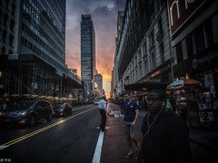 NYC - At the end of the day (michaelhertel) Tags: newyork newyorkcity street people colour travel olympus