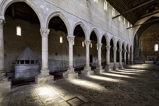 Basilica of Aquileia floor & pillars