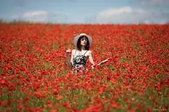 Emma (henrychristo27 (Christophe)) Tags: emma portraiture sensuality coquelicot fleur femme rouge