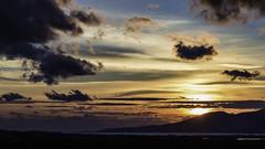 0E1A0042  Cycladic Sunset (foxxyg2) Tags: sun sunset sky clouds light gold blue naxos paros cyclades greekislands islandhopping islandlife water aegean