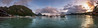 Panorama of the small town of El Nido in the Philippines at sunset - Christine Phillips (Christine's Phillips (Christine's observations) - ) Tags: philippines elnido sunset boat island majestic beautiful christinephillips panorama horizontal nopeople dramaticsky