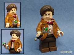 Custom Lego 11th Doctor (Matt Smith) (Brickophilia) Tags: custom lego minifigure doctor who 11th 11 matt smith tardis