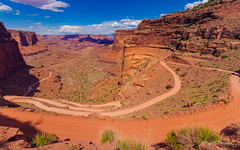 Shafer Trail Switchbacks (ProPeak Photography - Thanks for 600,000 views!) Tags: america automobile blue blueskies canyon canyonlandsnationalpark clouds famousplace green internationallandmark landmark landscape mesa moab nps nationalpark nature northamerica orange places red rocks shafercanyon shaferroad summer touristattraction travel traveldestination travelandtourism usa unitedstates utah yellow