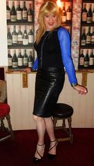 Black Leather Liking (Amber :-)) Tags: black leather pencil skirt tgirl transvestite crossdressing
