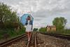 Sunce (Sareni) Tags: sareni serbia srbija vojvodina banat juznibanat pruga sine rails kucica nebo oblaci sky clouds kisobram devojka portrait portret drvece trava spring prolece april 2018 twop