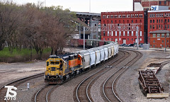 2/3 BNSF 2784 & 2848 Lead NB Transfer to Murray Yard in West Bottoms 4-20-18 (KansasScanner) Tags: kansascity kansas missouri kcmo bnsf train railroad transfer argentine murray yard
