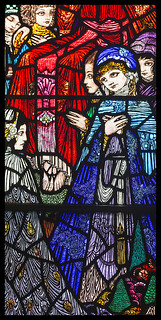 Detail from Harry Clarke stained-glass window