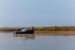 At anchor-5333 (Patrick Ladbrooke) Tags: river burn boat tide saltmarsh norfolk