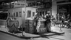 Berlin in Monochrome (Christian Lawrence Photography) Tags: berlin city monochome check point charlie border crossing