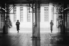 the ghost at your side (FButzi) Tags: genova genoa liguria italy italia galleria mazzini people reflection black white street