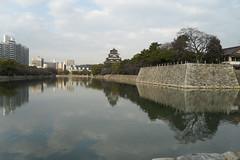 Hiroshima Castle (ballofur) Tags: hiroshimacastle hiroshima japan oldandnew