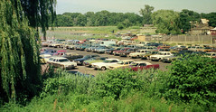 The Surf Club parking lot in the late afternoon with lots of colorful 1960s and 1970s cars. Vinyl roof heaven! Taken from one of the new houses being built on Seabreeze Avenue. Milford Connecticut. Aug 1974. (wavz13) Tags: analog vintageanalog oldphotographs oldphotos 1970sphotographs 1970sphotos oldphotography 1970sphotography vintagephotographs vintagephotos vintagephotography filmphotos filmphotography vintagemilford oldmilford 1970smilford vintagewoodmont oldwoodmont 1970swoodmont carphotography carphotos automotivephotography automotivephotos oldcars vintagecars 1960scars 1970scars collectiblecars collectablecars antiquecars connecticutphotographs connecticutphotos connecticutphotography oldconnecticutphotography oldconnecticutphotos oldconnecticut vintageconnecticut connecticutshoreline 110film kodacolor analogphotography instamatic pocketinstamatic grain grainy stationwagons buicks cadillacs vintage detroit