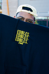 Edibles x3 Hoody (delasuela) Tags: red edibles clothing fashion sweatshirt hoody embroidery rappers musicians yellow natural light naturallightphotograhy lightroom